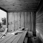 Interior End Of Porch With Vertical Louvers Poster
