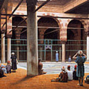 Interior Of A Mosque Poster