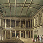 Interior Of Concert Room, From Bath Poster