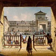 Interior Of Fort Laramie Poster