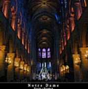 Interior Of Notre Dame De Paris Poster