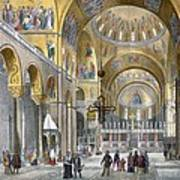 Interior Of San Marco Basilica, Looking Poster