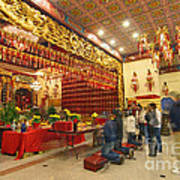 Interior Of Thien Hau Temple A Taoist Temple In Chinatown Of Los Angeles Poster