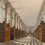 Interior Of Trinity College Library Poster