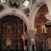 Interior  San Xavier Mission Tucson Arizona 2006 Poster