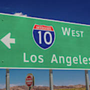 Interstate 10 Highway Signs Poster