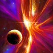 Intersteller Supernova Poster by James Christopher Hill