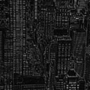 Into Nyc White On Black Poster
