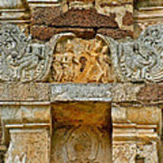 Intricate Carving At Wat Mahathat In 13th Century Sukhothai Hist Poster