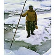 Inuit Seal Hunter Barrow Alaska July 1969 Poster