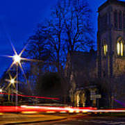 Inverness Cathedral At Night Poster