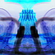 inverted Mirrored Symmetry And Electron Volcano Waves Photography Poster