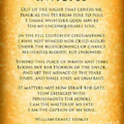 Invictus - Tribute To Nelson Mandela Poster by Ginny Gaura