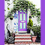 Invitation Greeting Card - Street Garden Poster