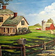 Cherokee Iowa Farm House Poster