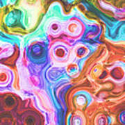 Iphone Colorful Abstract Poster