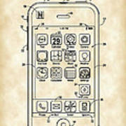 iPhone Patent - Vintage Poster