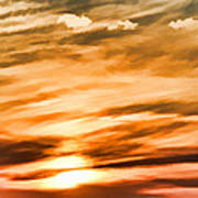 Iphone Sunset Digital Paint Poster