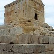Iran Cyrus Tomb Pasargadae Poster