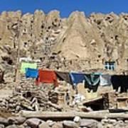 Iran Kandovan Stone Village Laundry Poster