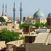 Iran Yazd From The Rooftops  Poster