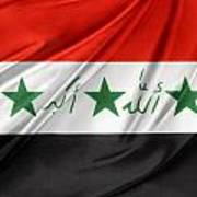 Iraq Flag Poster by Les Cunliffe