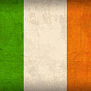 Ireland Flag Vintage Distressed Finish Poster by Design Turnpike