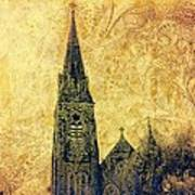Ireland St. Brendan's Cathedral Spire Poster