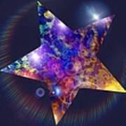 Iridescent Star Poster