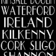 Irish Cities Subway Art Poster by Jaime Friedman
