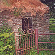 Irish Cottage Of Long Ago Poster