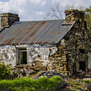 Irish Cottage Ruins Poster