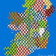 Irish County Gaa Flags Poster