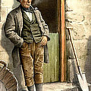 Irish Peasant Farmer Poster