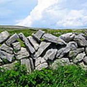 Irish Stone Wall Poster