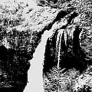 Iron Creek Falls Bw Poster