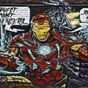 Iron Man Graffiti Poster