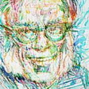 Isaac Asimov Portrait Poster