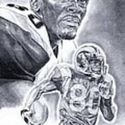 Isaac Bruce Poster by Jonathan Tooley