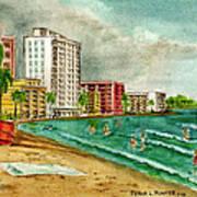 Isla Verde Beach San Juan Puerto Rico Poster