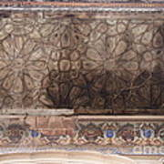 Islamic Geometrical Design On The Underside Of The Roof Of The Umar Hayat Mahal Poster