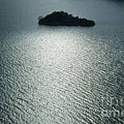 Lugu Lake Island And Ripples China Poster