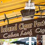Island Cigar Factory Key West  Poster