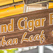 Island Cigar Factory Key West - Panoramic - Hdr Style Poster