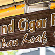 Island Cigar Factory Key West - Panoramic  Poster by Ian Monk