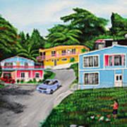 Island Hillside Living Poster