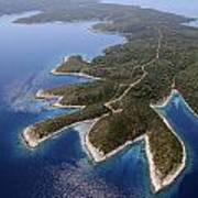 island Hvar from air Poster