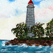 Island Lighthouse Poster