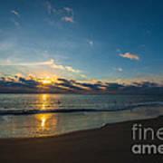 Coastal Beach Sunrise Poster