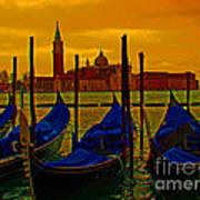 Isola Di San Giorgio Maggiore In Venice Poster by Al Bourassa